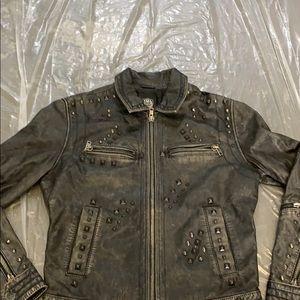 Leather coat men's rock&republic  leather coat
